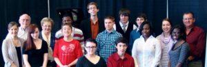 Nashville School of the Arts practice recital group photo