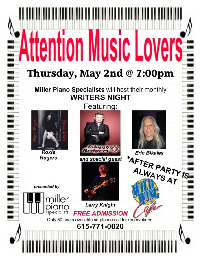 May Writers Night flyer