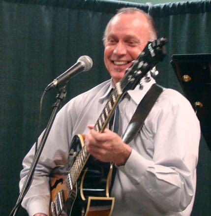 Bob Teague on guitar