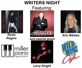 Featured artists for May Writers Night