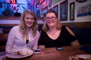 Dakota and Vicki at Wild Wings Cafe