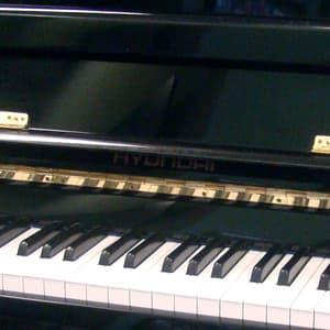 polished ebony Hyundai upright piano teaser image