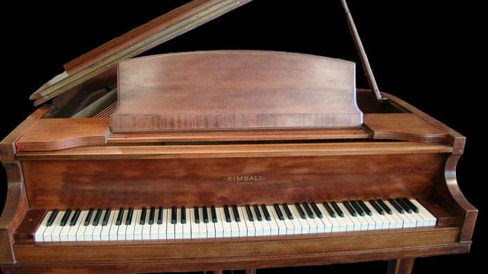 Kimball Grand Piano in brown