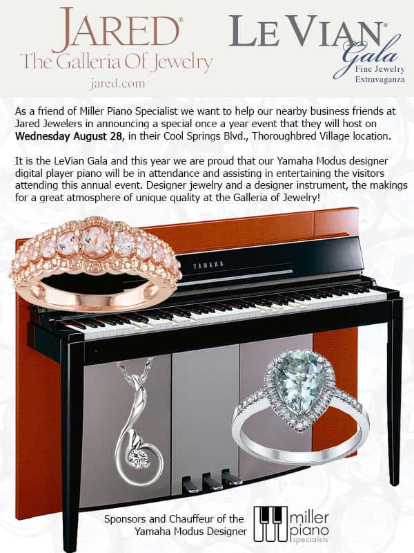 Jared The Galleria of Jewelry and Miller Piano Present the Le Vian
