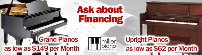 Bring home a piano once approved with our financing programs. Ask us how.