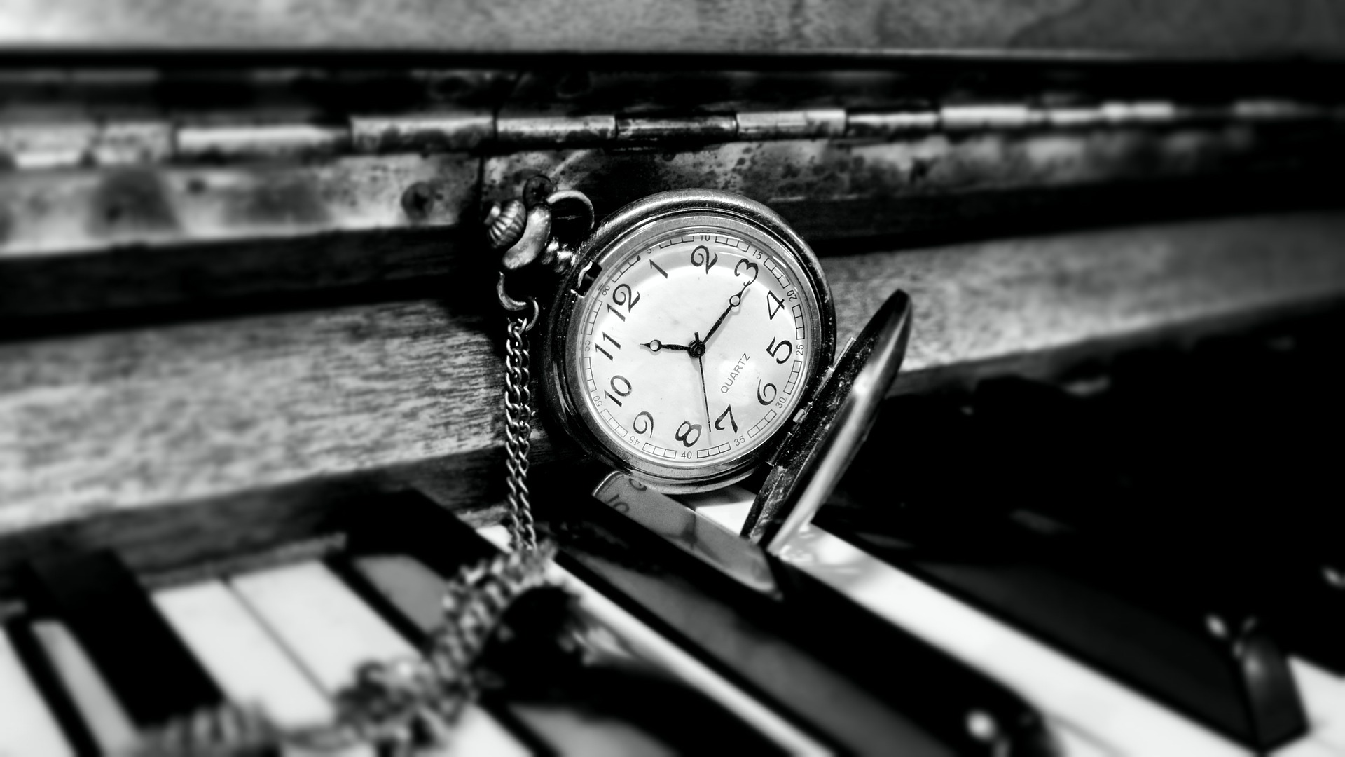 Antique Piano and watch
