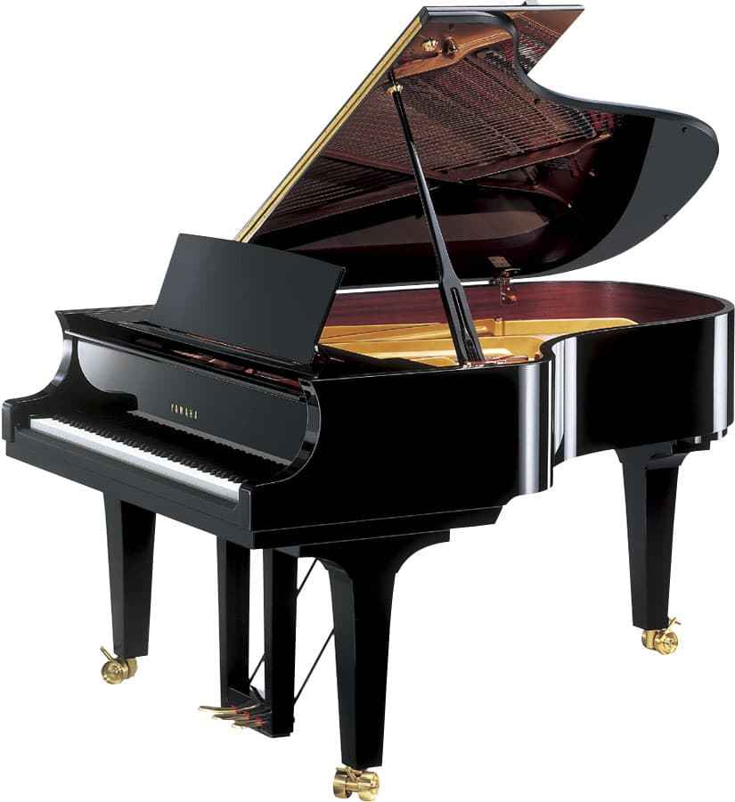 Acoustic grand piano provides a great touch of elegance to any home.
