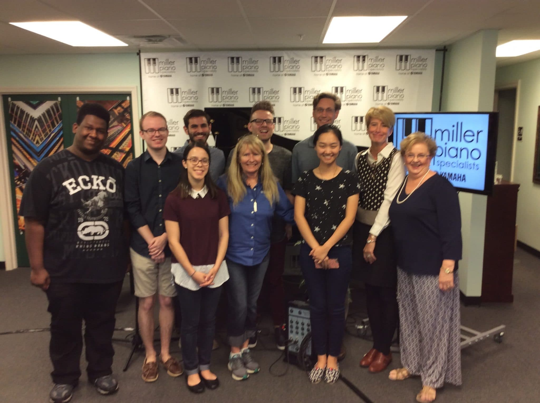 Students from Belmont University visited Miller Piano