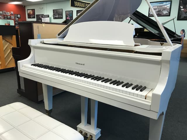 White Baldwin Howard Piano