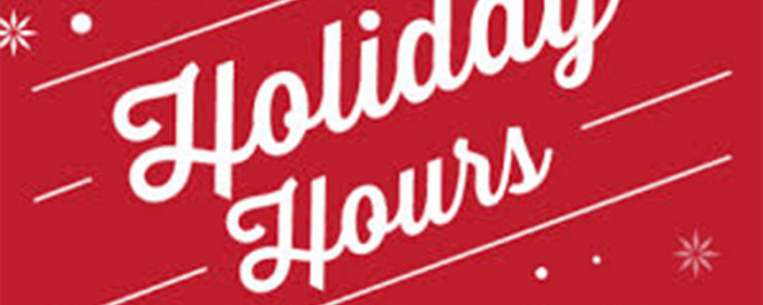 Holiday Hours Starting November 24th