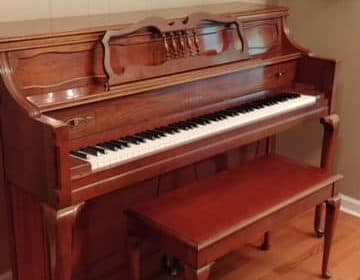 """Arriving this week!  Yamaha M26 console piano  """"Mary"""""""