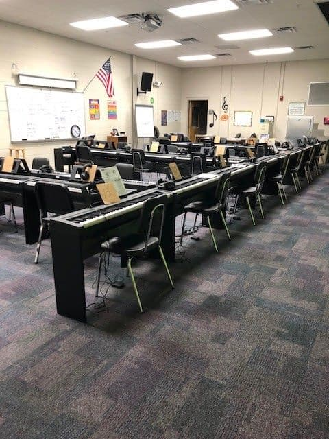 Yamaha Pianos installed and used at the Creswell Middle School Of the Arts