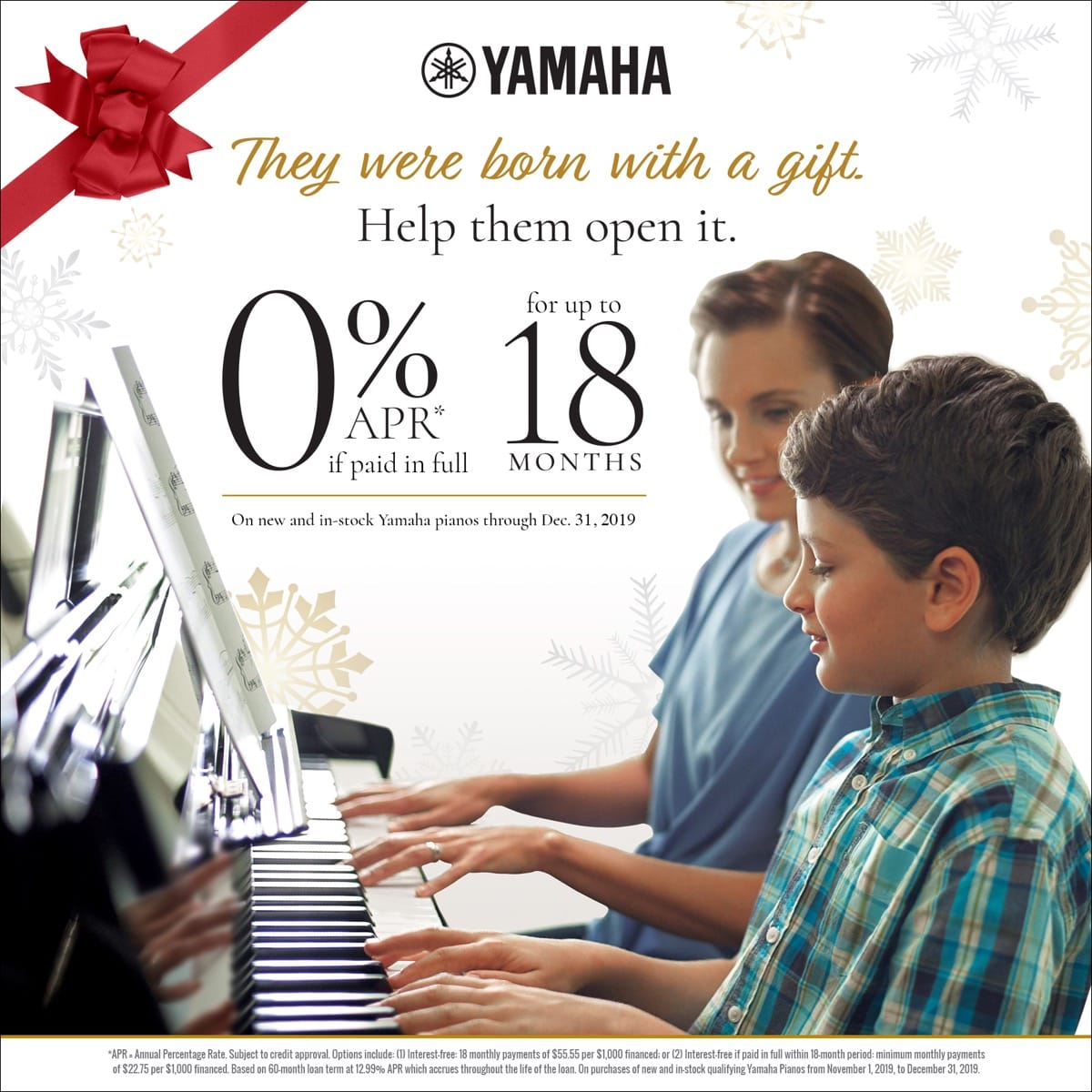 Yamaha Red Envelope 0% APR Promotion
