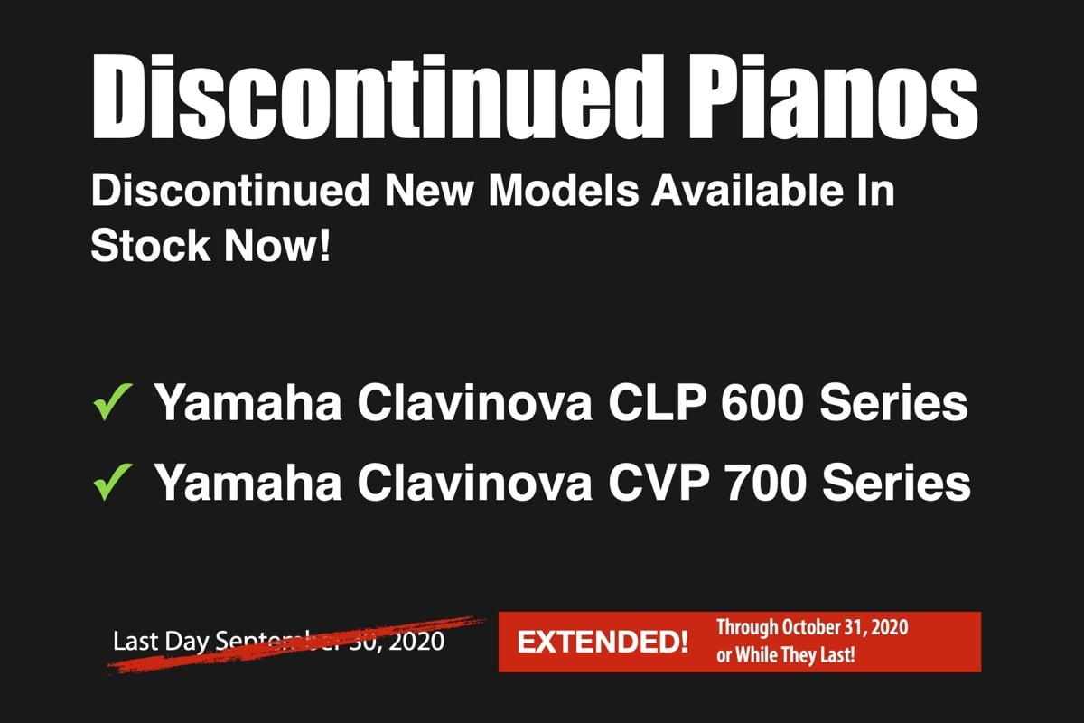 Discontinued Yamaha Pianos in Stock