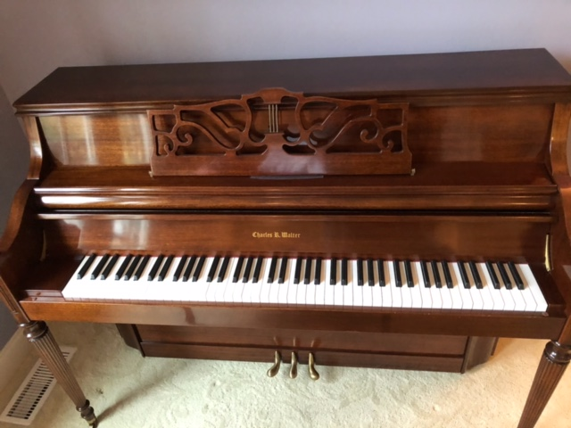Arriving…Charles Walter Studio Piano